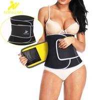 ningmi neoprene sauna waist trainer slimming body shapers women weight loss waist cincher corset fajas shapewear sports top belt