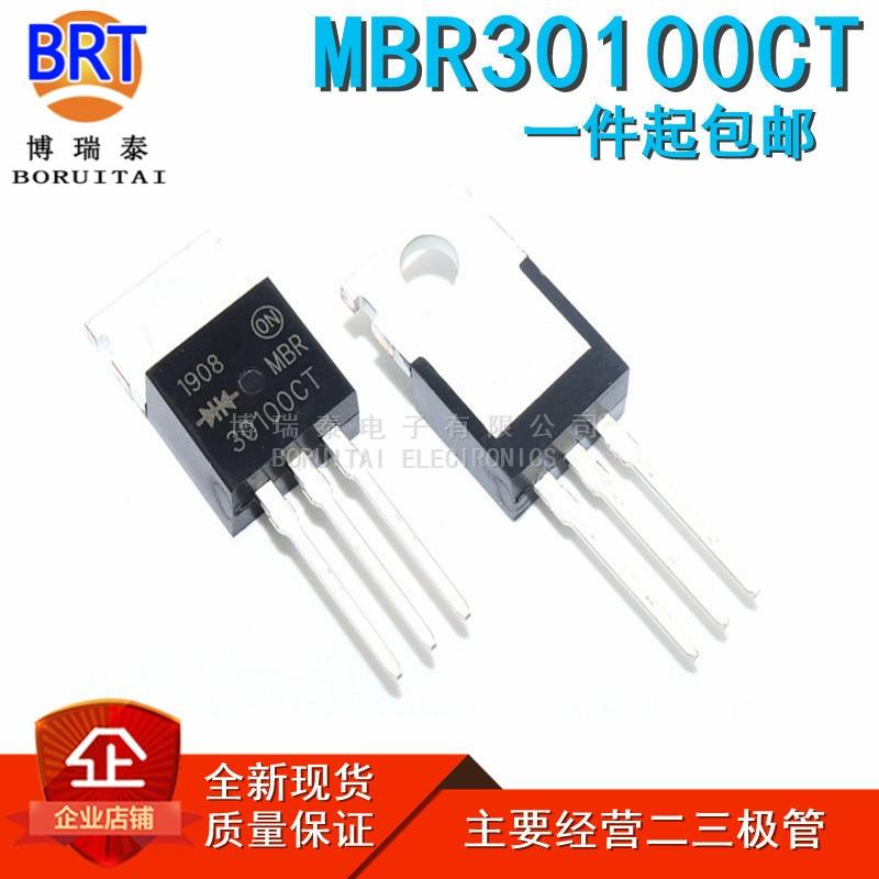 10 pçs/lote Novo MBR30100 TO220 MBR30100CT PARA-220 MBRF30100CT MBRF30100 B30100G 30A100V PARA-220