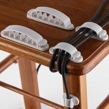Enrouleur de câble 10 pièces   Organisateur de câbles, stockage de fil de bureau, chargeur, support de câble, Clip pour MP3 MP4, enrouleur de souris