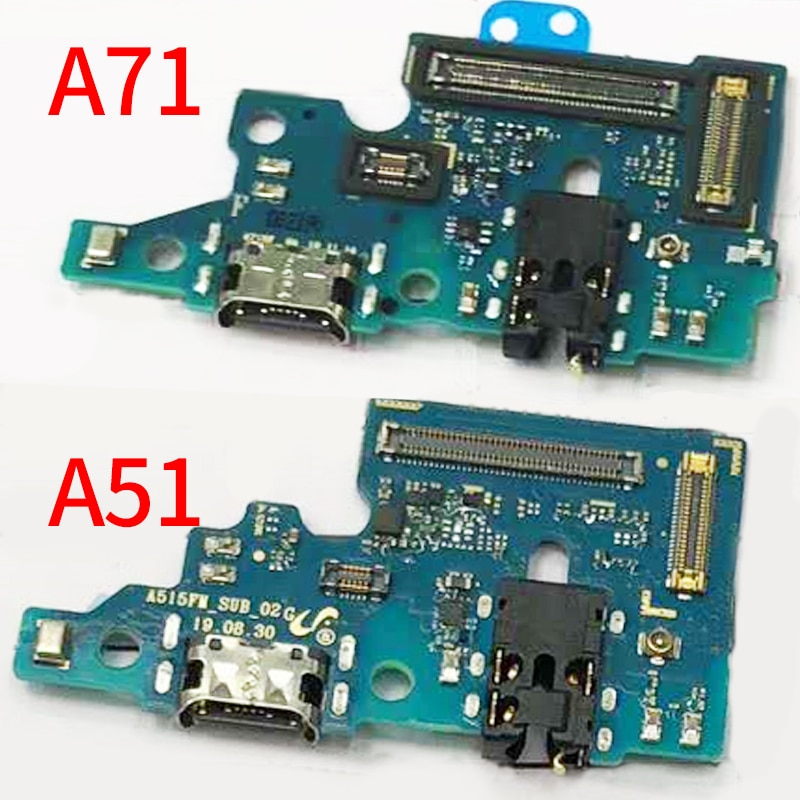 Charging Flex Cable For Samsung Galaxy A51 A515 A515F A71 A715 A715F Dock Connector USB Charging Cha