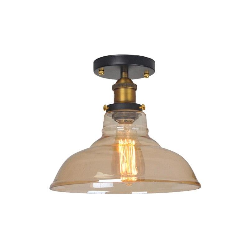 Vintage Plafondlamp Glazen Lampenkap Claer/Amber E27 Lamp 110-220V Gang/Gangpad/Balkon/ loft Binnenverlichting Led Plafondlamp