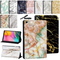 pu leather stand cover for samsung galaxy tab a 8 0 9 7 10 1 10 5 marble tablet case for tab e 9 6s5e 10 5s6 lite 10 4
