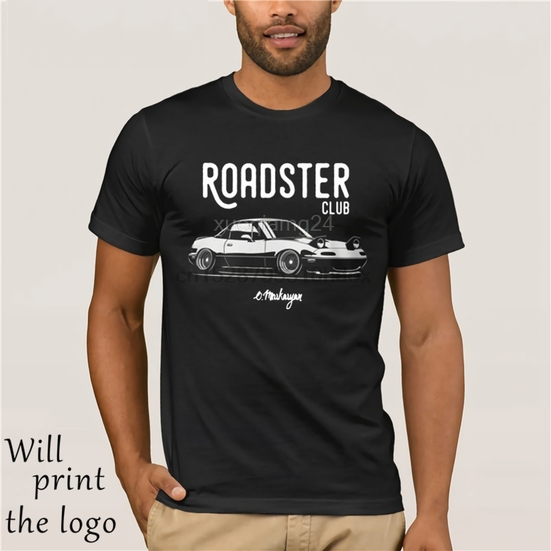 Fashion Cool Men T shirt Women Funny tshirt Roadster club. MX5 Miata Customized Printed T-Shirt