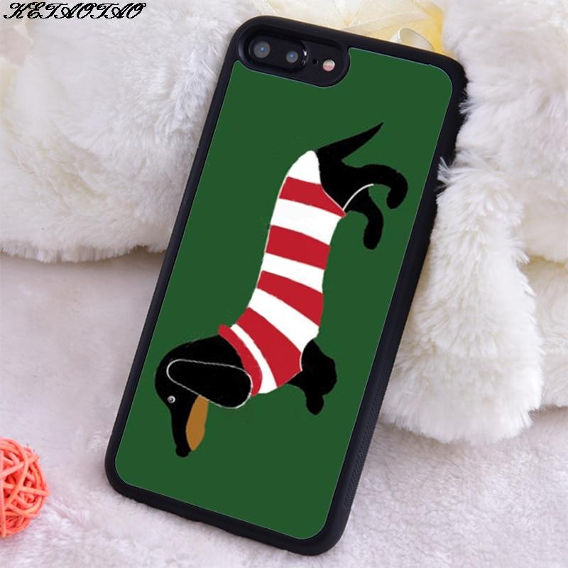 KETAOTAO Dachshund in Stripes Soft Silicon Soft TPU Phone Case for Iphone 5S SE 6S 7 8 Plus X Xs Xr 11 Max