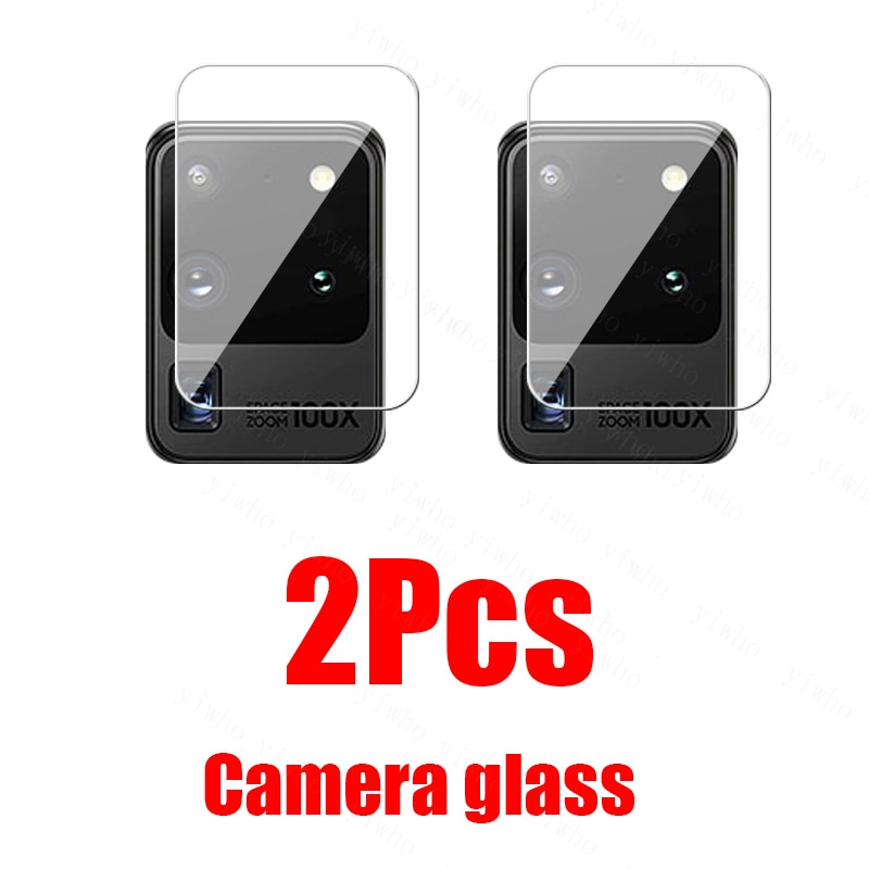 2Pcs Glass For Samsung S20 Ultra Camera glass On Galaxy S21 Plus FE A71 A51 A41 A31 A21 A21S A12 A02S Lens Screen Protector film