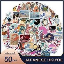 50PC créatif Ukiyo photos décoratif bagages autocollants Scrapbooking bricolage journal intime Album bâton étiquette Art Stickers muraux