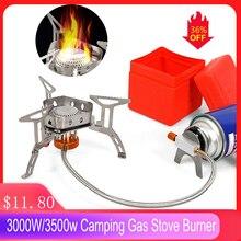 3000W/3500W Camping cuisinière à gaz brûleur fendu ultraléger ustensiles de cuisine brûleur pour la randonnée en plein air