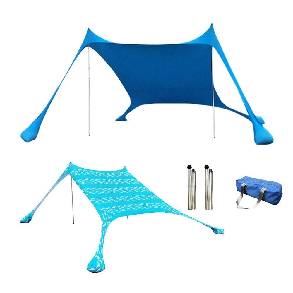 Portable Sun Shade Tent With Sandbag UV Lycra Large Family Canopy For Outdoor Fishing Camping Beach Sunshade Awning Set