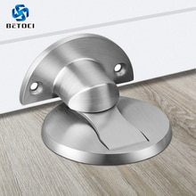 BETOCI porte magnétique 304 bouchon de porte en acier inoxydable, Installation sans clou, butée de porte cachée, quincaillerie de meubles daspiration de porte