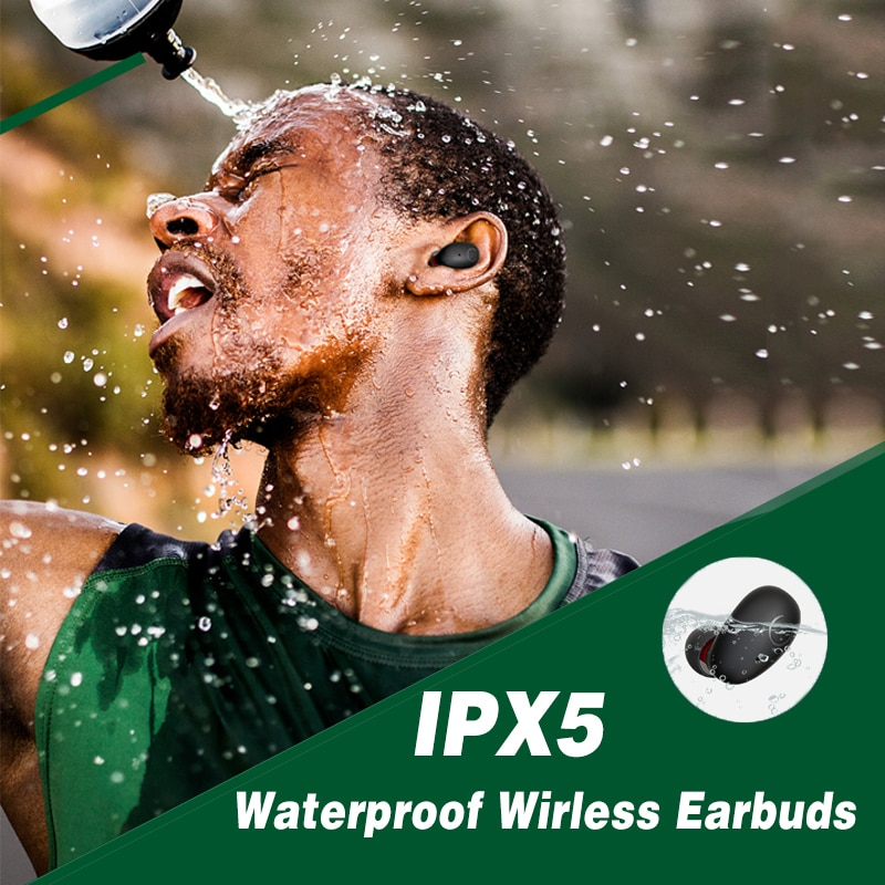 B6 TWS Wireless Bluetooth 5.0 Earbuds, IPX7 Water Resistant Sports Aptx / AAC Compatible 45h Playtime for IOS Android enlarge