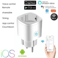 Prise WiFi intelligente ue 16a qui peut etre controlee par la voix avec Assistance Alexa   Google pour controler a distance des appareils menagers