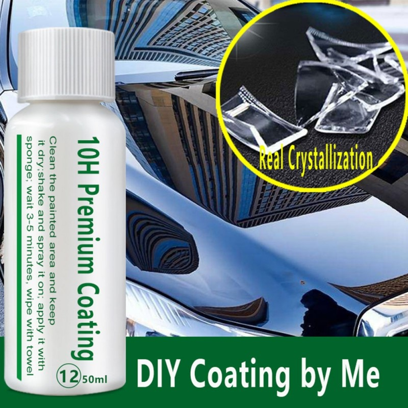 Drop ship 10H Nano Car Oxidation Liquid Ceramic Coating Paint Care  Automotive Plating Liquid Suit