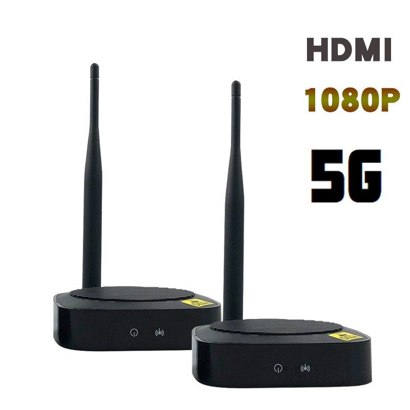 5GHz inalámbrico hdmi transmisor receptor 50M extensor HDMI convertidor de Video Wifi HDMI remitente 1080P 60Hz HD DVD TV