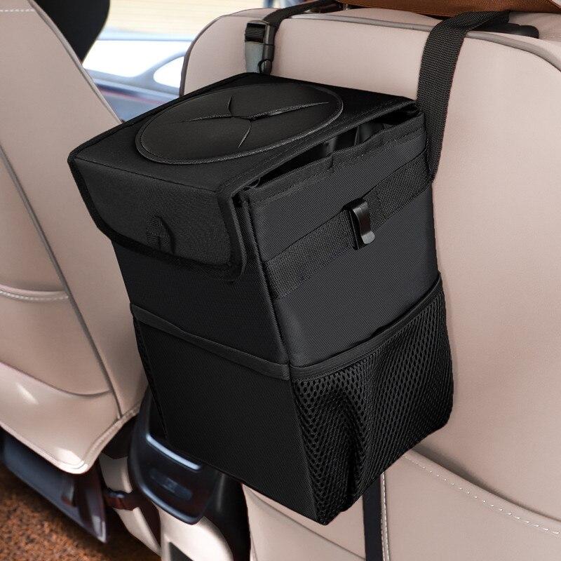 Car Portable Waterproof Trash Can Bin Organizer Garbage Dump For Trash Auto Storage Pockets Accessor