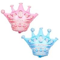 crown balloon blue pink aluminum foil crown balloon princess baby shower balloon wedding birthday party decoration balloon