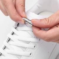 elastic shoelaces flat no tie shoe laces fashion fast metal lock shoelace kids adult sneakers safety lazy laces unisex 1 pair