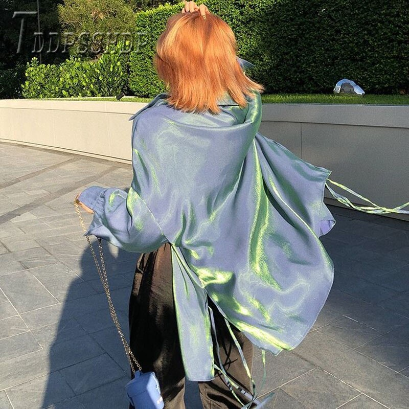 Blusa para mujer, de manga larga, holgada, Retro, de otoño, de tela suave, 2019