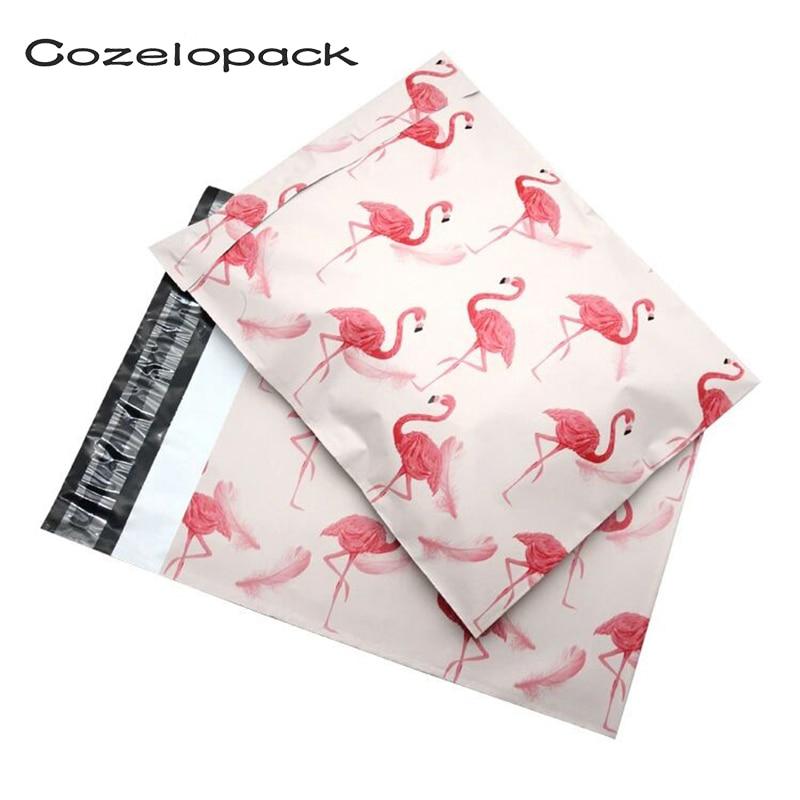 100 шт 10*13 дюймов Фламинго шаблон поли почтовые 25x37 см самопечать пластиковые Почтовые Конверты Сумки Доставка сумки почтовые конверты