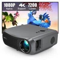 CAIWEI     projecteur video Full HD  1080P  7200 Lumen  5G  WIFI  android  Home cinema  supporte 50000 heures dautonomie  supporte 4k