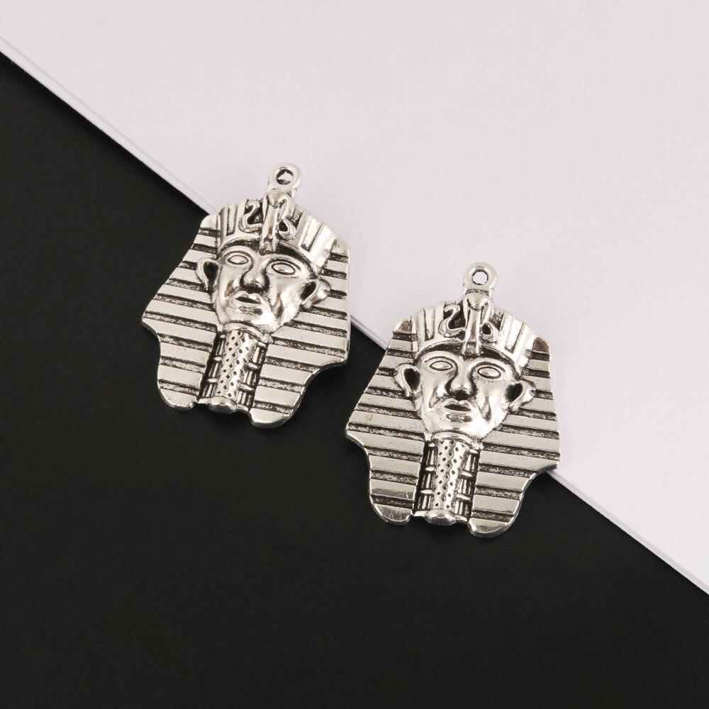 5 pièces breloques Ganesha éléphant antique égyptien bouddha argent couleur pendentifs pour bricolage fait main bijoux faisant accessoire