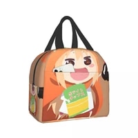 himouto umaru chan reusable insulated lunch bag cooler tote box meal prep for men women work picnic or travel