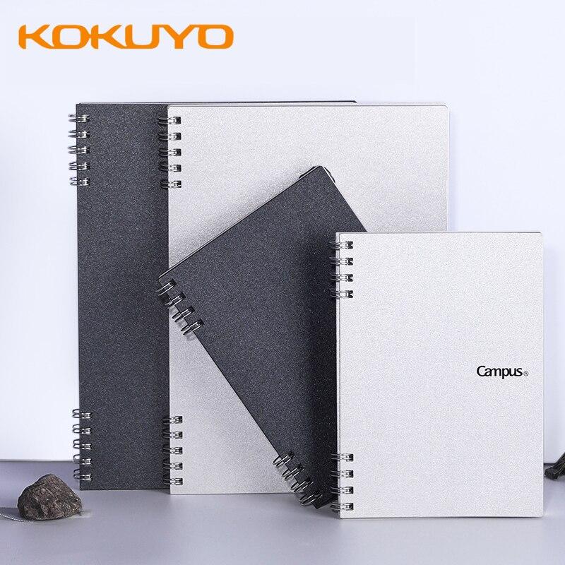 Kokuyo CAMPUS espiral libro de hojas sueltas A6 cuadrado A5, Bloc de notas de línea Horizontal, caja dura de plata portátil, libro de notas