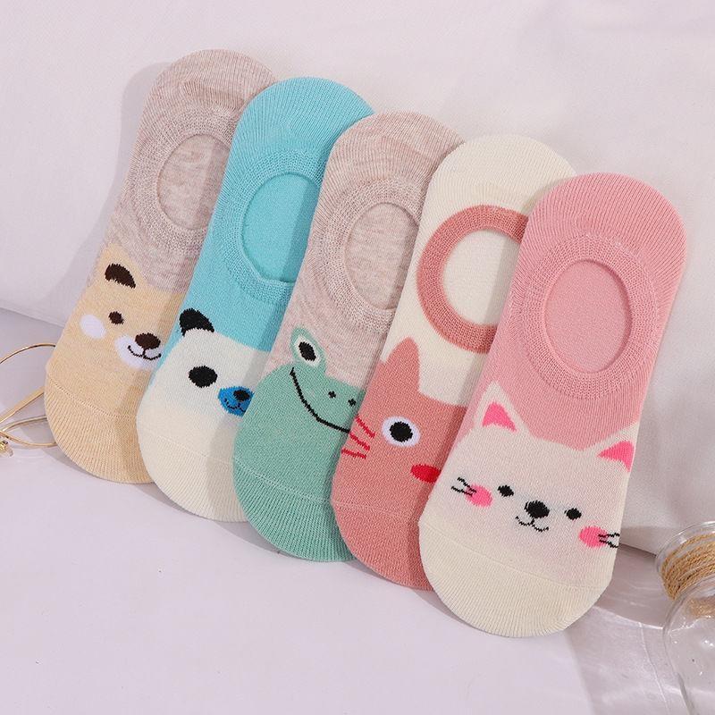 AliExpress - 5 Pairs Cute Harajuku Women's Socks Set Cartoon Print Animal Panda Cat Pattern Meias Lolita Cotton Socks For Girls Autumn Sokken
