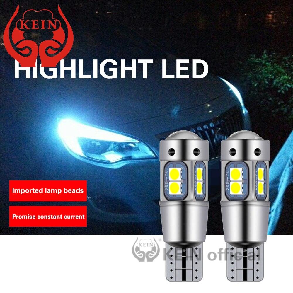 Kein 2 pçs canbus hd lente t10 w5w carro led luz 194 168 ba9s t4w baxter 9s bay9s h21w interior lado marcador bagagem compartimento lâmpada