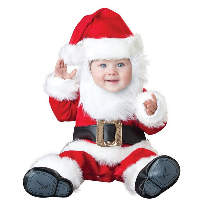 0-3Years Baby Christmas Santa Claus Rompers Kid Birthday Party Role Play Dress Up Outfit Festival Xm