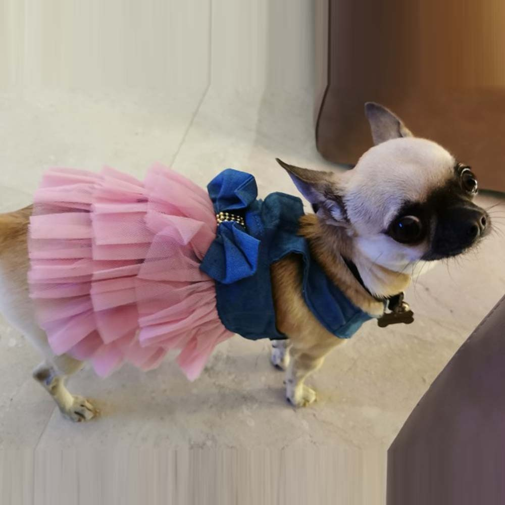 AliExpress - Dog Summer Dress Chihuahua Wedding Dress Jean Lace Princess Skirt for Puppy Kitty XS-XXL Desses for Pet Clothes Supplies 2021 Ho