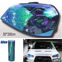 200x30cm Car Headlight Tail Fog Light Film Vinyl Tint Film Chameleon Blue Car colorful light film Sticker
