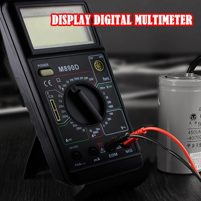 Multímetro portátil DT830L/DT890D/DT820B/DT700B/DT3266L probador de resistencia amperímetro de CA/CC probador de corriente luminoso