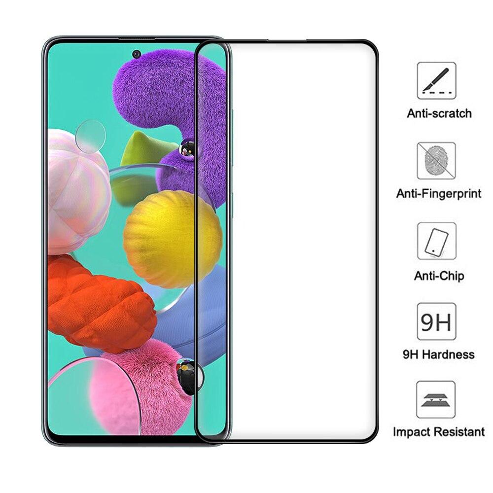 2 pièces Film décran pour Samsung Galaxy S20 FE 5G 9H Dimond dureté verre trempé noir lunette Film couverture pour Galaxy A51 A71