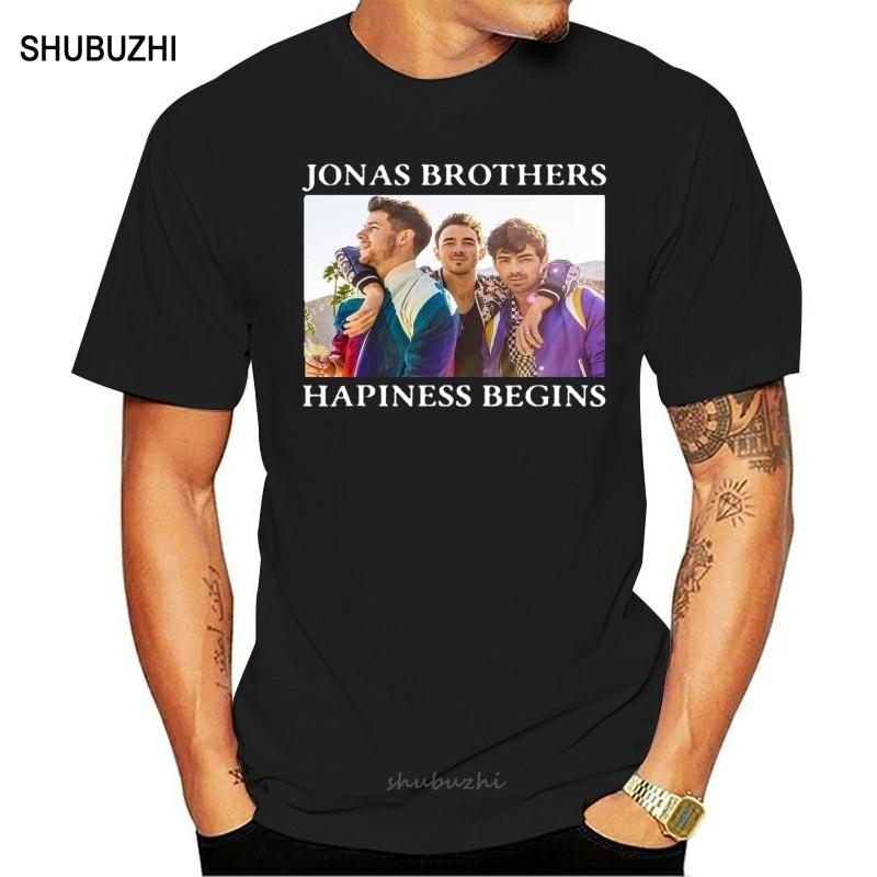 Detalles sobre la camiseta de los hermanos Jonás, la felicidad, empieza la camiseta tour shubuzhi