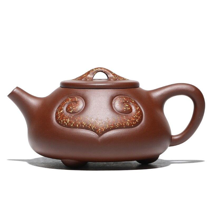 Yixing الأرجواني الطين إبريق الشاي ، اليدوية ، طقم شاي ، أواني الشرب ، الخام الأرجواني الطين ، حجر مغرفة إبريق الشاي ، رويي ، Zisha درينكوير