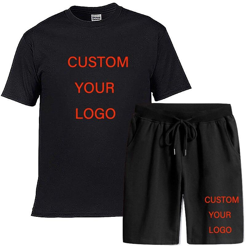 Мужские комплекты одежды из 2 предметов, набор для бегунов Корректирующие шорты комплект летней модной одежды для мужской короткий костюм и...