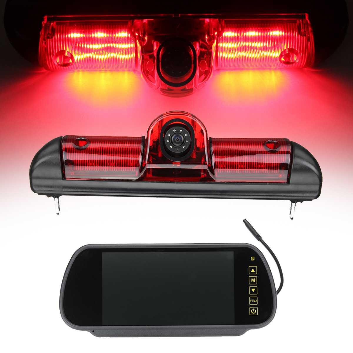 Brake Rearview Camera With Monitor Car Rear Brake Light Reversing For Fiat For Ducato For Peugeot Boxer For CITROEN 2006-2016