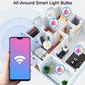 Функция голосового Управление 15 Вт RGB умный светильник накаливания с регулируемой яркостью E27 B22 Wi-Fi LED декоративный светодиодный светильник переменного тока 110V 220V работать с Alexa Google Home