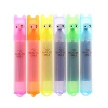 6 pièces/ensemble capacité créative stylo Fluorescent marque 6 couleur stylo Graffiti créatif papeterie marqueurs recharge point culminant Pastel dessin