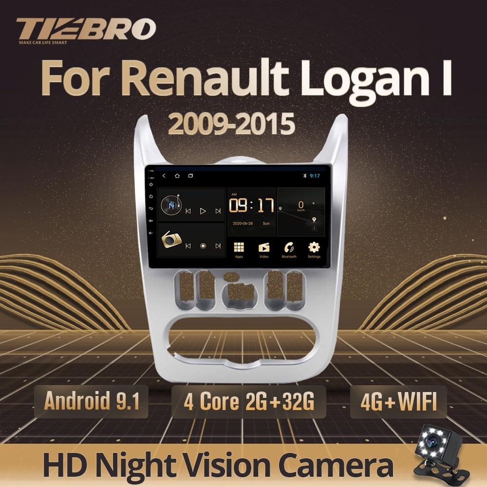 Tiebro 2din android 9.0 rádio do carro para 2009-2015 renault logan i sandero lada lergus dacia reprodutor de vídeo multimídia do carro navegação