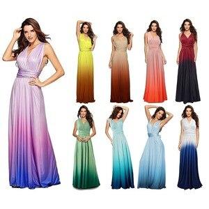 Elegant Gradient Casual Women Maxi Dress Sexy Multiway Dress Donne Boho Club Vestito Party Wedding Bridesmaid Maternity Dresses