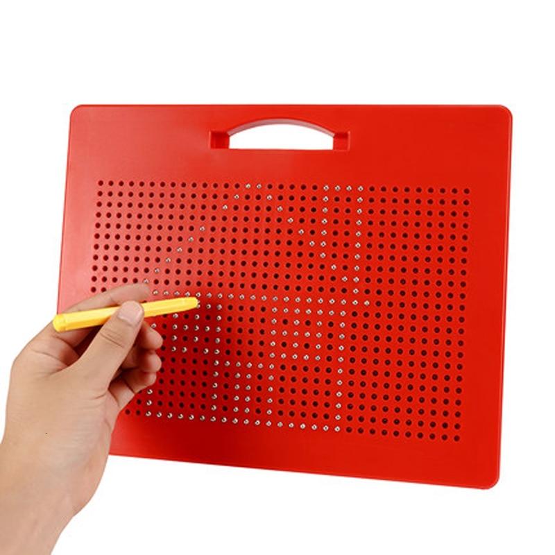 Juguetes de dibujo para niños tableta magnética almohadilla magnética tablero de dibujo Bola de cuentas de acero magnético niños juguetes de aprendizaje pintura regalos
