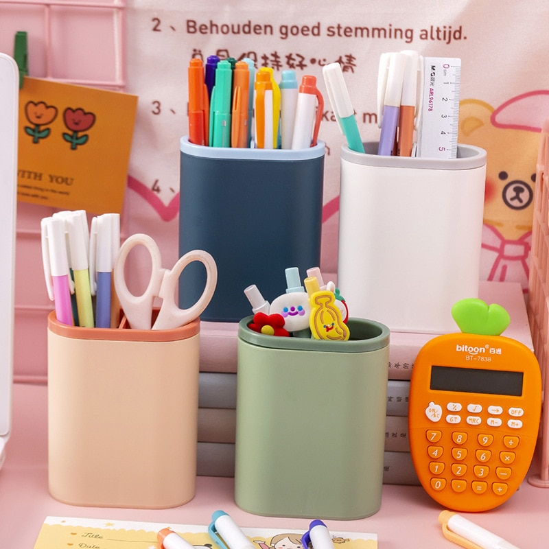 Kawaii многофункциональная настольная подставка для ручек коробка для хранения кистей для макияжа карандаш для бровей коробка для хранения ш...