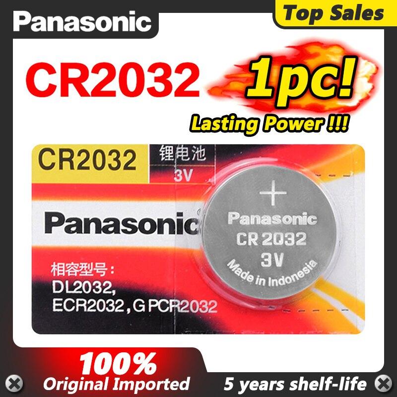 PANASONIC de alta calidad 1 pieza 3v Cr2032 2032 pila de botón...