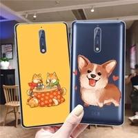 cute corgi case for nokia 5 3 5 4 3 4 2 4 1 4 2 3 2 2 6 2 3 2 4 2 for nokia 3 1 6 1 5 1 7 plus soft tpu phone cases cover capa