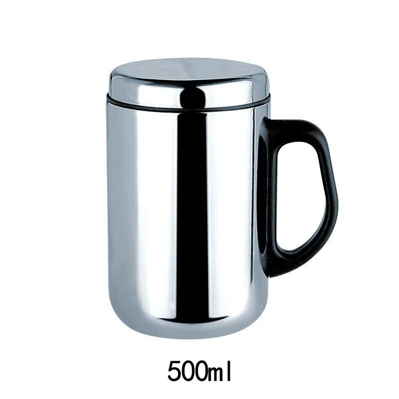 350/500 مللي مزدوجة الجدار كأس معزول الفولاذ المقاوم للصدأ الحرارية القدح ترموس تفريغ القهوة الشاي قدح الترمس زجاجات المياه
