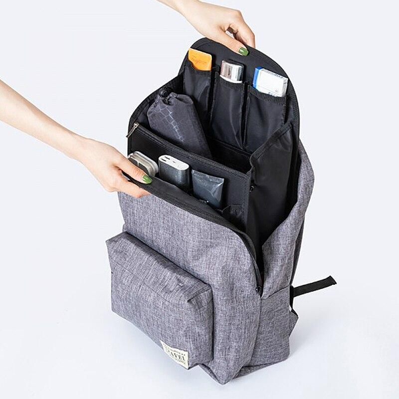 Bolsa organizadora práctica para viaje, mochila para mujer, cartera con sombrilla interna, bolsa de almacenamiento para llaves, artículos multifuncionales para organización de artículos varios