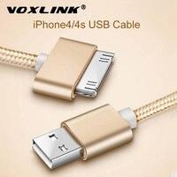 USB-кабель VOXLINK в нейлоновой оплетке, кабель для быстрой зарядки для iPad 1, 30 pin, металлический штекер, USB-кабель для синхронизации данных и заряд...