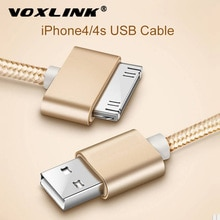 VOXLINK USB Cable Nylon Braided fast charge cable for iPad 1 30 pin Metal plug Sync Data USB Charger