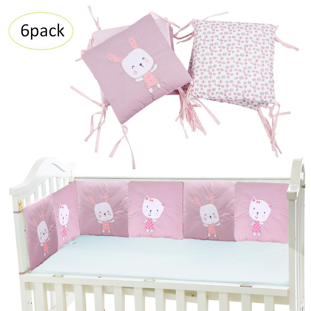 6 шт. детская кроватка дышащая мягкая сетка, Детские кроватки бампер кроватки около Подушка защита для кроватки подушки новорожденных посте...